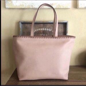 Kate Spade neautral pink large tote bag purse